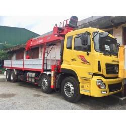 Cẩu tự hành ATOM 12 tấn gắn xe Dongfeng 4 chân